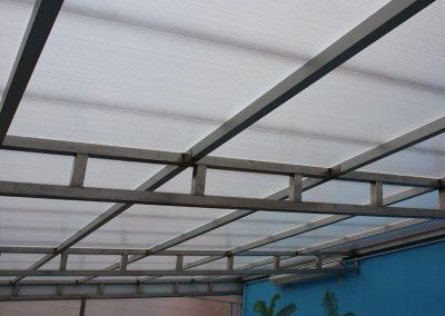 Estructura de acero inoxidable para piscina en Mazariegos (Palencia)