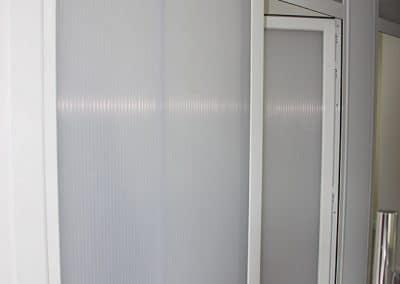 Mampara interior de policarbonato en Carrión de los Condes (Palencia)