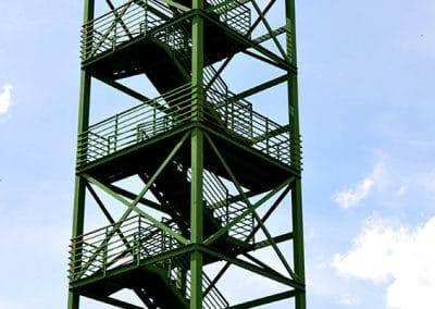Estructura de hierro para mirador en Mazariegos (Palencia)