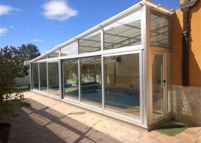 Cerramiento aluminio piscina Mazariegos (Palencia)